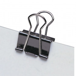 MARBIG FOLDBACK CLIPS 25mm - Pack of 12