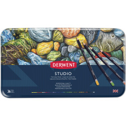 DERWENT STUDIO PENCILS Tin 36 Assorted