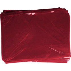 RAINBOW CELLOPHANE 750mm x 1m Pink 25 Sheets Pack