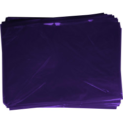 RAINBOW CELLOPHANE 750mm x 1m Purple 25 Sheets Pack