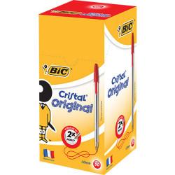 BIC CRISTAL BALLPOINT PEN Red Box of 50