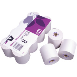 VICTORY CALC/REGISTER ROLLS 57x57x11.5 1Ply Lint Free Bond Pack of 8