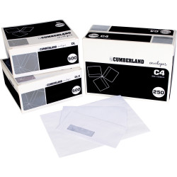 CUMBERLAND PLAIN ENVELOPE DL 110x220 StripSeal 90g Laser Box of 500