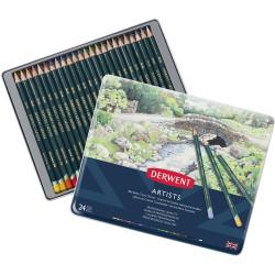 Derwent R32083 Artist 24 Pencils Assorted Tin Pack Of 24