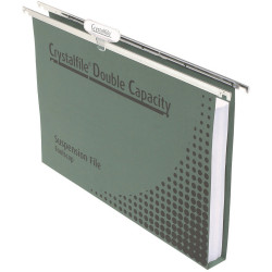 CRYSTALFILE SUSPENSION FILES Enviro Double Cap, with Tabs Box of 50