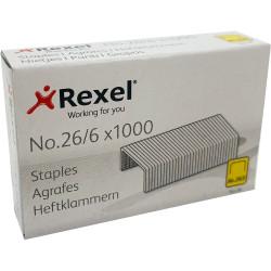 REXEL STAPLES No.56 26/6 Box of 1000