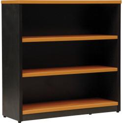 LOGAN BOOKCASE 900X900 2 Shelf Beech & Ironstone