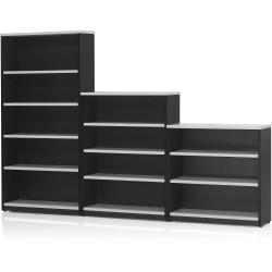 LOGAN BOOKCASE 1200X900 3 Shelf White & Ironstone