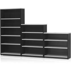 LOGAN BOOKCASE 1800X900 4 Shelf White & Ironstone