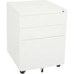 RAPIDLINE MOBILE PEDESTAL 3DR 2 Std 1 Filing White H610xW460xD472mm