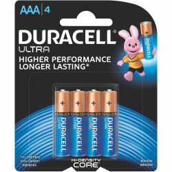 Duracell Ultra Battery AAA Pack of 4