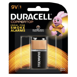 Duracell Coppertop Battery 9V Carded