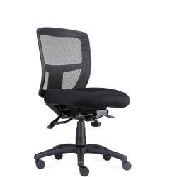 RAPIDLINE OPERATOR CHAIR Ergonomic Mesh Black Fabric Seat, Black Mesh