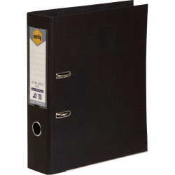 Marbig Pe Linen Lever Arch Binder A4 75mm Black
