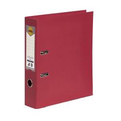 Marbig Linen PE Lever Arch Binder A4 75mm Deep Red