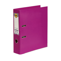 Marbig Pe Linen Lever Arch Binder A4 75mm Pink