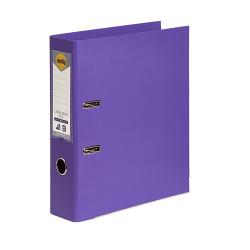 Marbig Linen PE Lever Arch Binder A4 75mm Purple