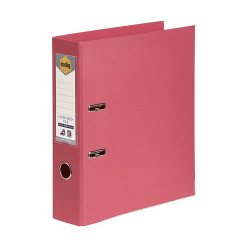 Marbig Linen PE Lever Arch Binder A4 75mm Coral