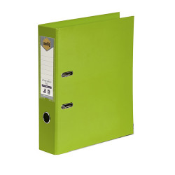 Marbig Linen PE Lever Arch Binder A4 75mm Lime