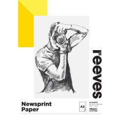 REEVES NEWSPRINT PAD A2 48GSM 50 Sheets
