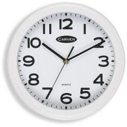 Carven Wall Clock 250mm Diam White Frame