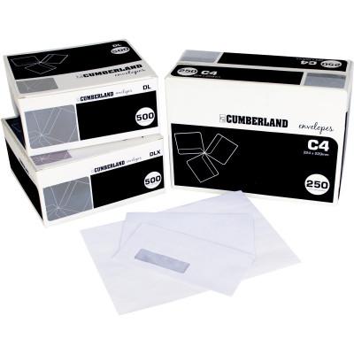 Cumberland Plain Envelope Pocket C4 Strip Seal Laser Secretive White Box Of 250