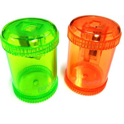 Bantex Canister Sharpener Single Hole Orange or Green