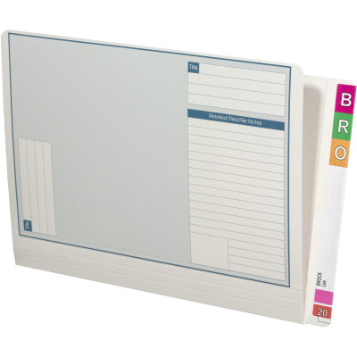 Avery Lateral Notes File A4 White Box of 100