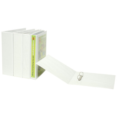 Marbig Clearview Insert Binder A4 2D Ring 65mm White