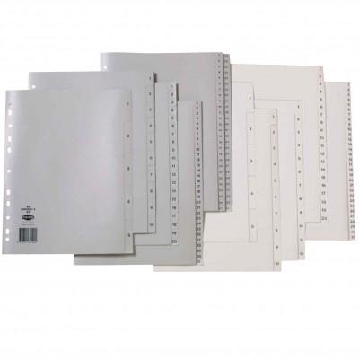 Marbig Plastic Divider A4 1-12 Grey