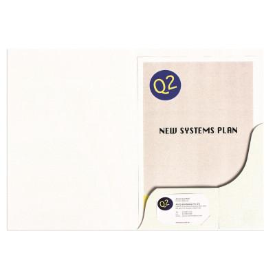 MARBIG PRESENTATION FOLDERS Pro Series A4 Matt White Pack of 20