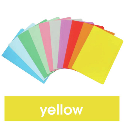 Marbig Manilla Folders Foolscap Yellow Box Of 100