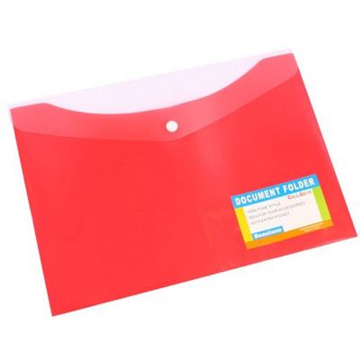 Bantex Document Folder A4 With Button Closure Tropical Melon