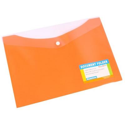 Bantex Document Folder A4 With Button Closure Tropical Mango
