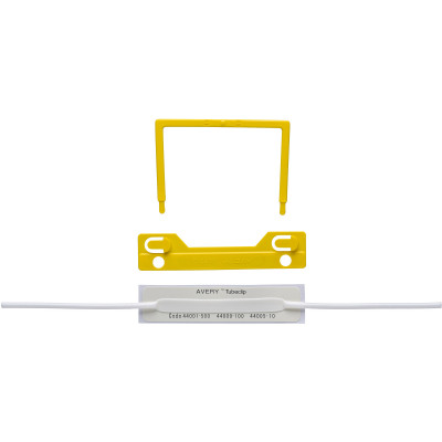 Avery Tubeclip File Fastener Complete Yellow Box of 100