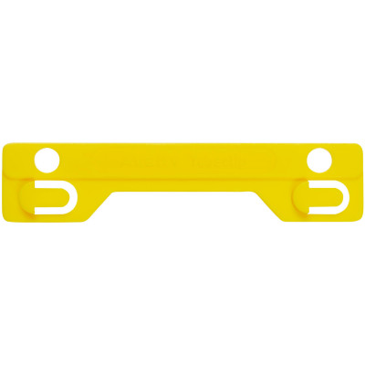 Avery Tubeclip Compressor Bar Yellow Pack of 25