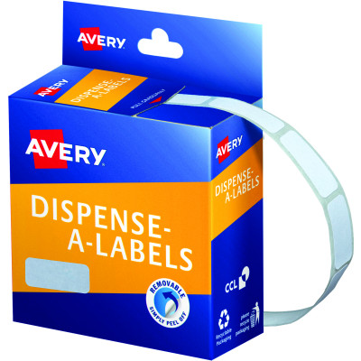 AVERY DMR1024W DISPENSER LABEL Rectangle 10x24mm White Pack of 1200