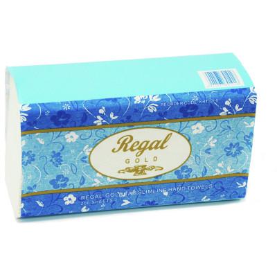 Regal Gold Slimline Hand Towels 200 Sheets Carton of 16