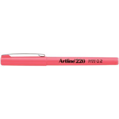 Artline 220 Fineliner Pen 0.2mm Pink Pack Of 12
