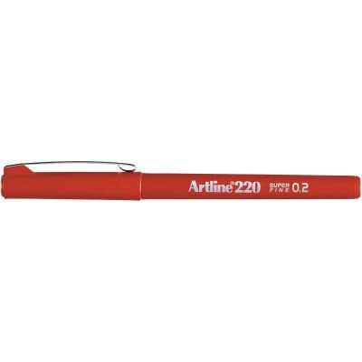 Artline 220 Fineliner Pen 0.2mm Dark Red Pack Of 12