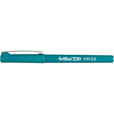 Artline 220 Fineliner Pen 0.2mm Dark Green Pack Of 12