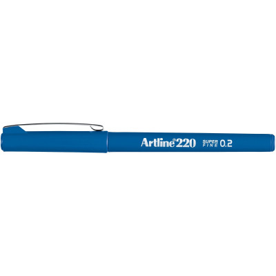Artline 220 Fineliner Pen 0.2mm Royal Blue Pack Of 12